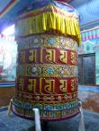 Prayer wheel at the Shechen Monastery