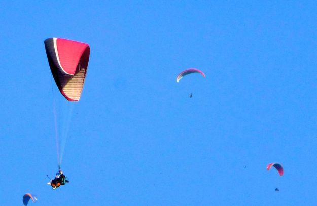 Paragliding in Bir, near TCV school
