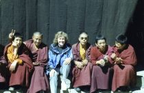 Playful monks at the Tashilhunpo monastery, Shigatse