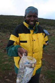 Bless Mtui…he picks up trash along the way!