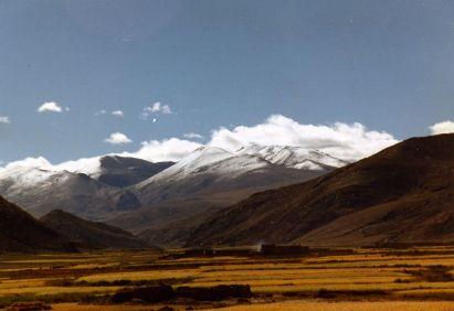 The Himalayas beyond the plain