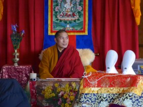 Kilung Rinpoche in a pensive moment