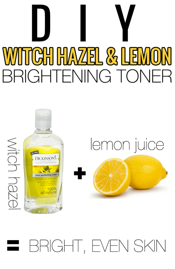 Houston Beauty Blogger Meg O on the Go shares a DIY Witch Hazel & Lemon Brightening Toner. This is the perfect toner for skin that is looking dull. Read more now!