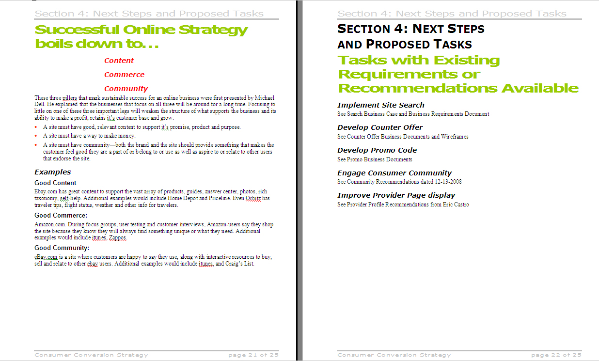 Major online customer service client this document provided a blueprint and timelines for a comprehensive overhaul of the site malvernweather Choice Image