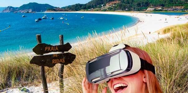 Los paisajes de las islas cíes, a través de unas gafas de realidad virtual