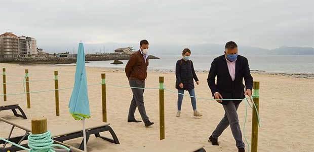 Habrá «acomodadores» en las playas de Sanxenxo para controlar el aforo