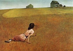 woman yearning for faraway house
