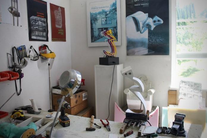Parviz Tanavoli's studio in Horseshoe Bay (Photo by Hadani Ditmars)