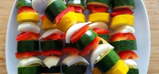 Gemüsespieße vegan