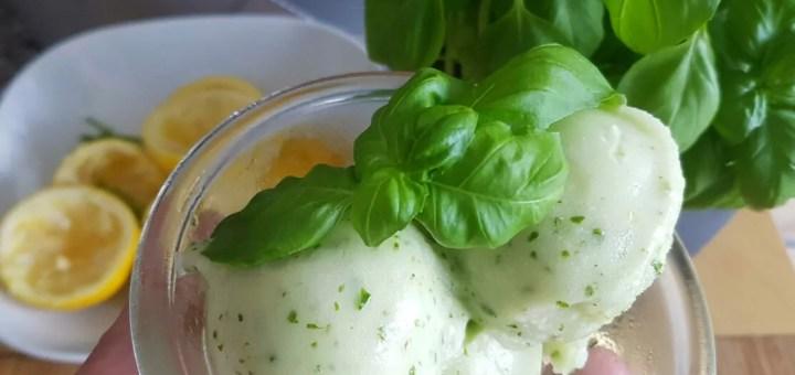 Zitronen Basilikum Sorbet selber machen Rezept
