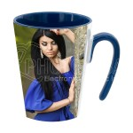 11 oz. Two-Tone Latte Mugs w 7-Shaped Handle – Inner and Handle