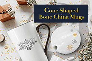 Cone Shaped Bone China Mugs