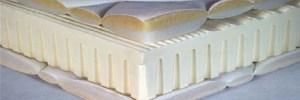 Image de coupe d'un matelas en latex