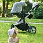 Chariot poussette Hot Mom 2018 avec nacelle et siège enfant 889, gris