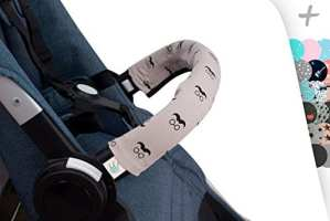 Housse de protection couvre la poussette de poignée de voiture (Mr Mustache)