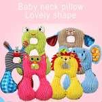 iSuper coussins, oreiller pour bébé Coussin appuie-tête Motif humoristique pour Voyage d'appui tête et cou pour enfants (grenouille)