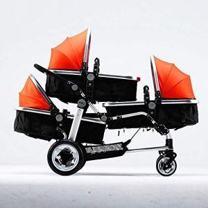 Shisky Poussettes 4 Roues,Poussette triplés Poussette Chariot Haute-Vue Poussette bébé