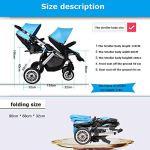 HYJ Twin Baby Stroller Poussette Pliante légère et Confortable avec Parasol ( Color : A )
