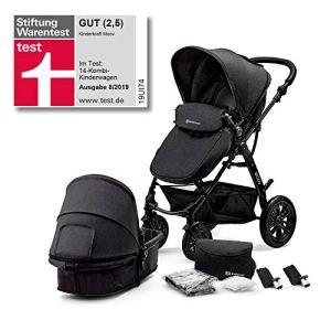 Kinderkraft Poussette Multifonctionnelle Landau 2en1 Noir