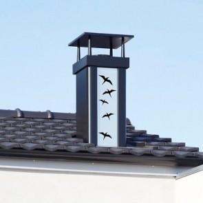 sortie de toit poujoulat luminance carree noire finition envol