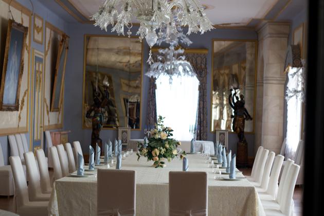 CASTELLO DI SPESSA内的正式餐厅