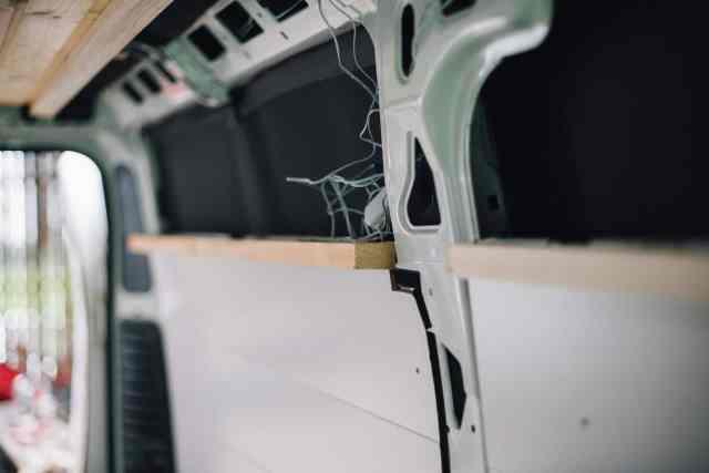 Hängeschrank Konstruktion Kastewagen mit kanthölzern