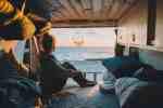 Camperbus Bett Ausbau Querbett