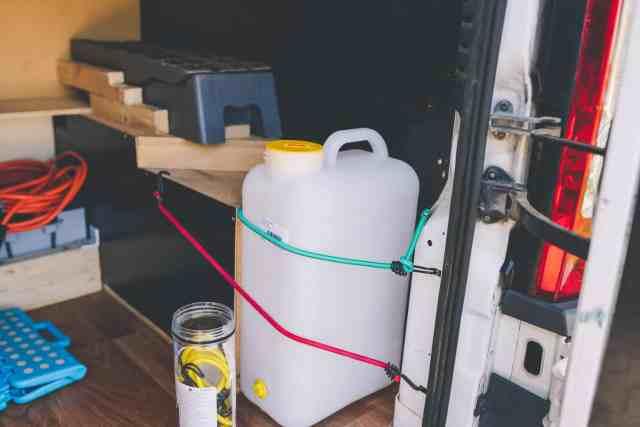 Wasserversorung im Wohnmobil Camper Duschkanister