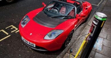Elektroauto Tesla Roadster. Bildquelle: Tesla Motors