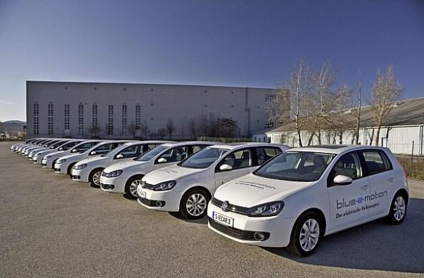 Das Elektroauto VW Golf Blue-e-Motion wurde bereits von vielen Menschen getestet. Bildquelle: Volkswagen AG