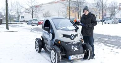 Das Elektroauto Renault Twizy im Wintertest. Bildquelle: enercity