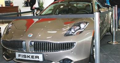 Elektroauto Fisker Karma auf der Cebit Hannover 2013