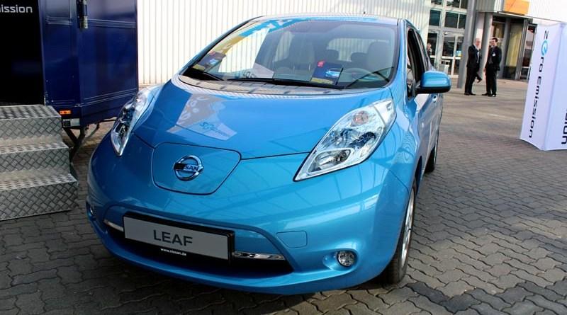 Das Elektroauto Nissan Leaf.