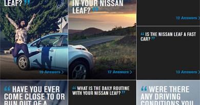 """Bei der Aktion """"Real Owner. Real Answers"""" können Eigentümer des Elektroauto Nissan Leaf gefragt werden. Bildquelle: Screenshot Nissan"""