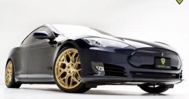 Das Elektroauto Tesla Model S nach dem Tuningprogramm von T Sportsline. Bildquelle: T Sportsline