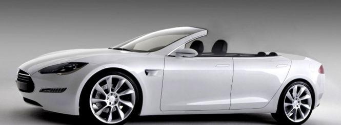 Das Elektroauto Tesla Model S als Cabrioversion. Bildquelle: Newport Convertible Engineering