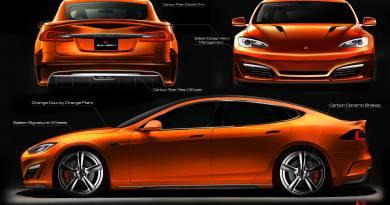 Das Elektroauto Tesla Model S nach dem Tuning-Upgrade. Bildquelle: Saleen