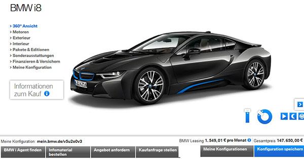Screenshot von der BMW.de