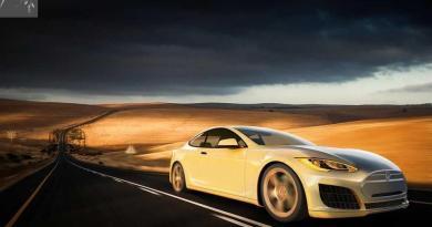 Konzeptstudie des Elektroauto Tesla Model S Concept Coupe aufgetaucht. Bildquelle: Koncept Cars