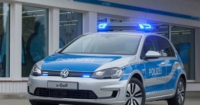 Das Elektroauto VW e-Golf als Polizeifahrzeug. Bildquelle: Volkswagen AG
