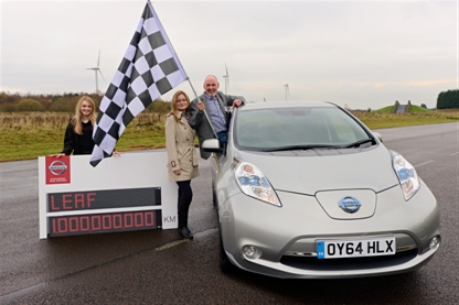 Mit dem Elektroauto Nissan Leaf wurden bereits mehr als eine Milliarde Kilometer zurückgelegt. Bildquelle: Nissan Leaf