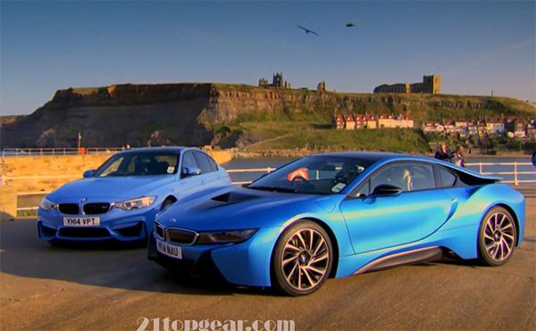 BMW M3 vs BMW i8 im TopGear Test. Bildquelle: Screenshot von TopGear
