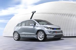 Elektroauto Rinspeed Bulli Autosalon Genf Rinspeed hat das Elektroauto BMW i3 zum Roboterauto umgebaut. Bildquelle: Rinspeed