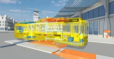 So ist die induktive Ladestation unter der Bushaltestelle verbaut. Bildquelle: Bombardier Transportation