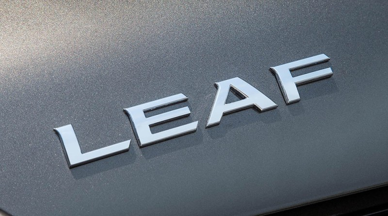 Elektroauto Nissan Leaf 2016 Leaf-Schriftzug. Bildquelle: Nissan