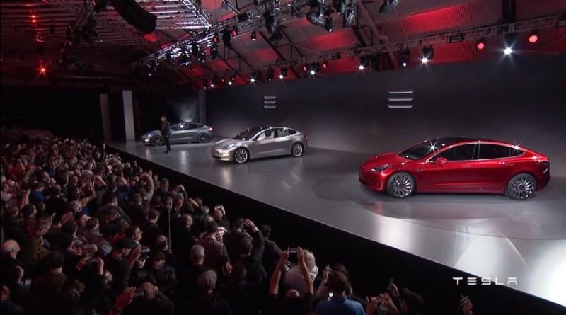 Elektroauto Tesla Model 3. Bildquelle: Tesla Motors