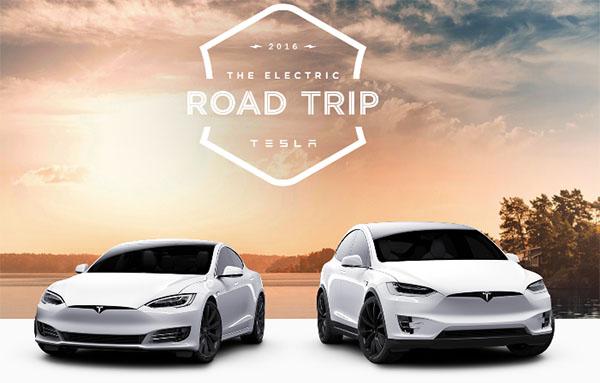 Bisher wurden mit den Elektroautos von Tesla Motors über 4 Milliarden Kilometer zurückgelegt. Um die 5 Milliarden-Grenze zu knacken wurde der Electric Road Trip gestartet. Bildquelle: Tesla Motors