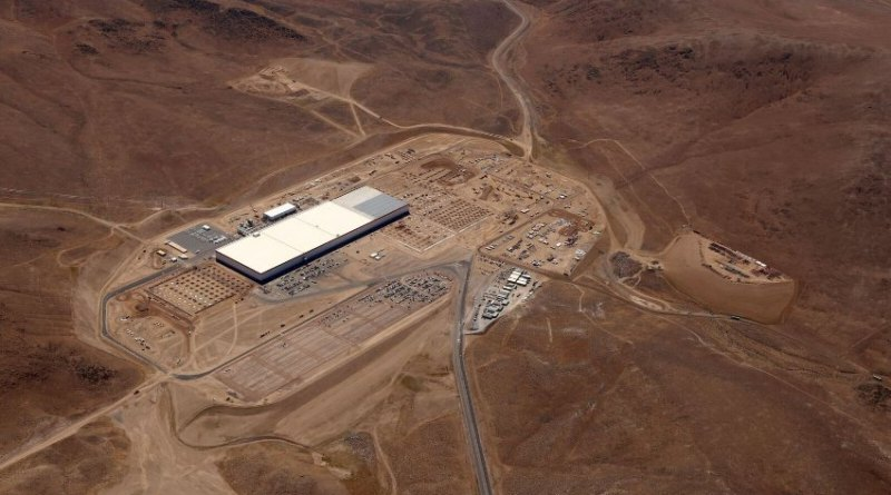 Tesla Motors Gigafactory Stand Juli 2016. Bildquelle: Tesla Motors