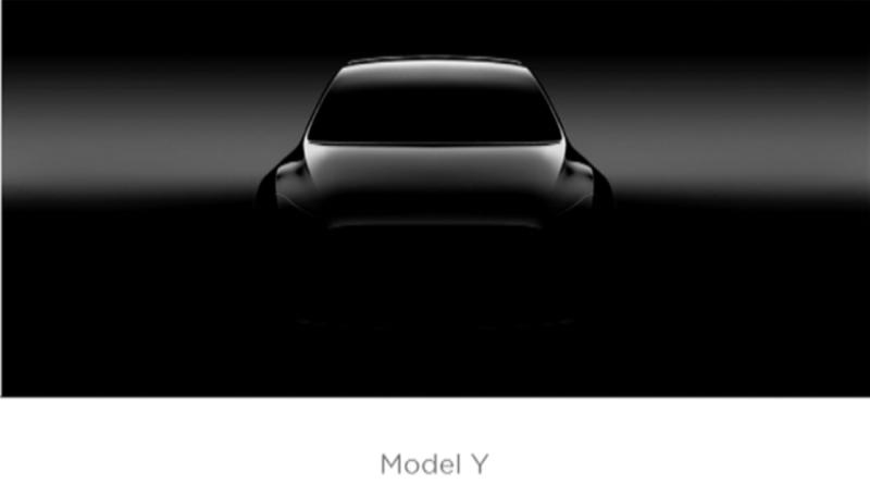 Teaser Elektroauto Tesla Model Y. Bildquelle: Tesla