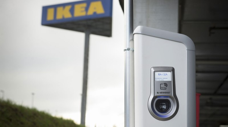 IKEA Schweiz setzt beim Aufladen von Elektroautos auf Mennekes. Bildquelle: Mennekes